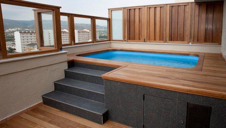 Piscinas v lez construccion de piscinas sevilla - Minipiscinas para terrazas ...