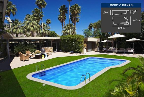 Modelo diana3 for Ofertas piscinas poliester