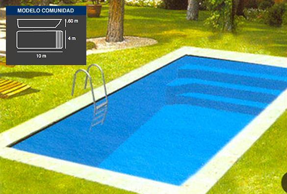 comunidad, piscinas de poliéster