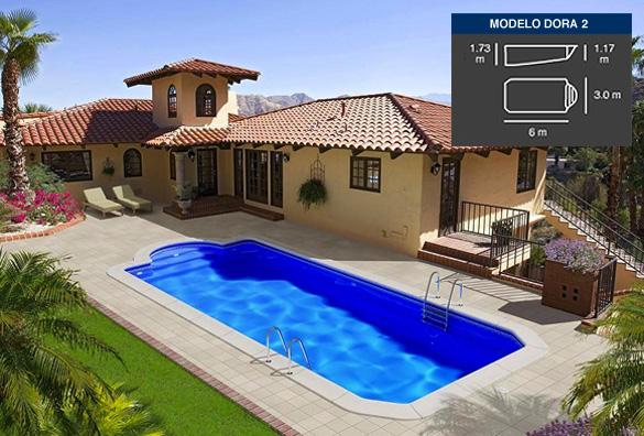 dora2, piscinas de poliéster