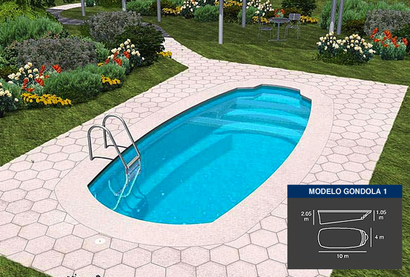 gondola1, piscinas de poliéster