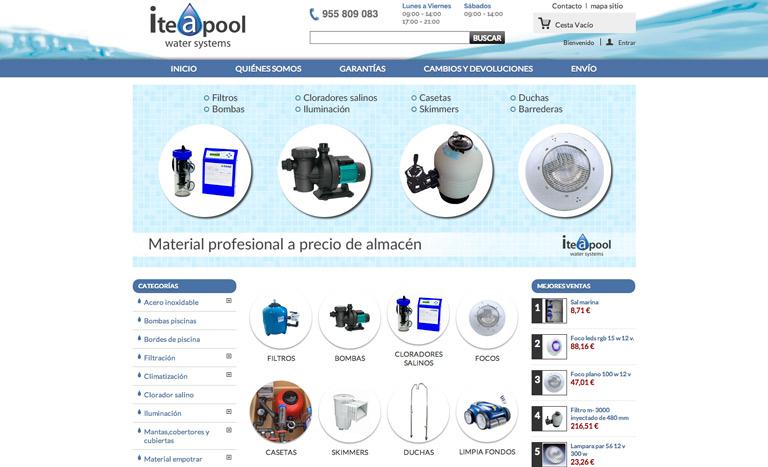 Tienda Online de Piscinas - venta de productos y accesorios piscinas