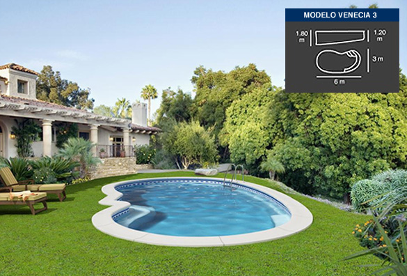 venecia3, piscinas de poliéster