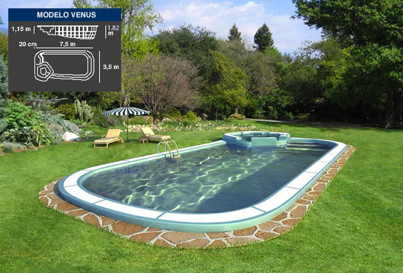 venus, piscinas de poliéster