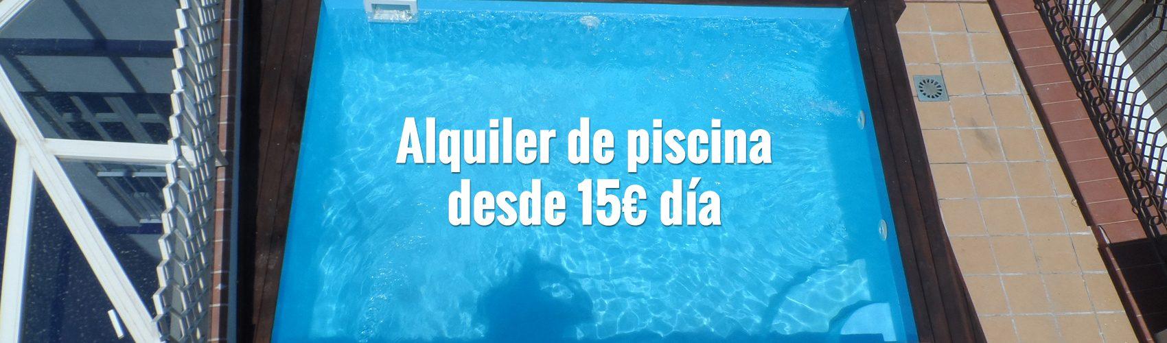 piscinas de alquiler